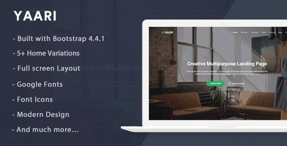 Yaari - Landing Page Template - Landing Pages Marketing