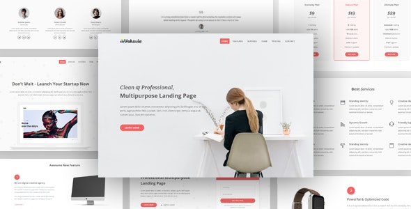 Vakavia - Multipurpose Landing Page Template - Landing Pages Marketing