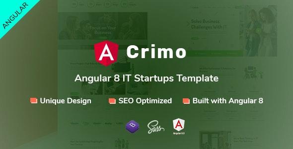 Crimo - Angular 8 IT Startups Template - Corporate Site Templates