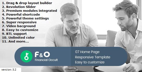 F&O - Finance Occult Multipurpose Drupal 8.8 - Drupal CMS Themes