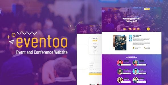 Eventoo - Event PSD Template - Events Entertainment