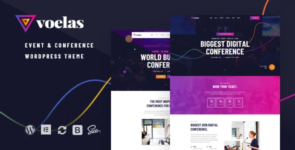Voelas - Event & Conference WordPress Theme - Events Entertainment
