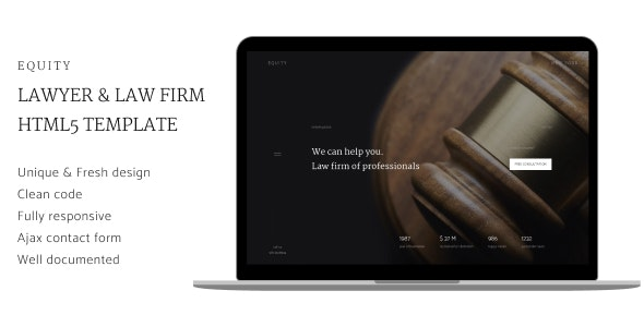 Equity - Lawyers and Law Firm HTML5 Template - Site Templates