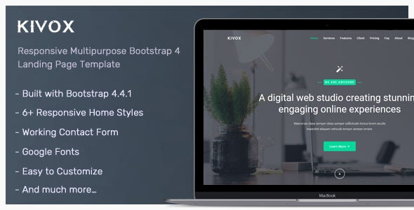 Kivox - Landing Page Template - Corporate Landing Pages