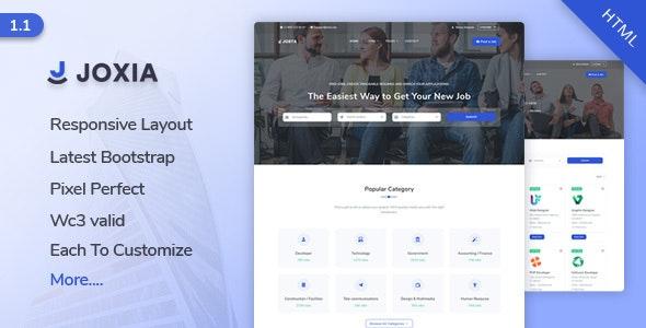 Jobya - Job Board & Job Listing HTML5 Template - Business Corporate