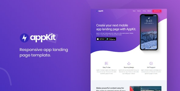 Appkit - App Landing Page Template - Landing Pages Marketing