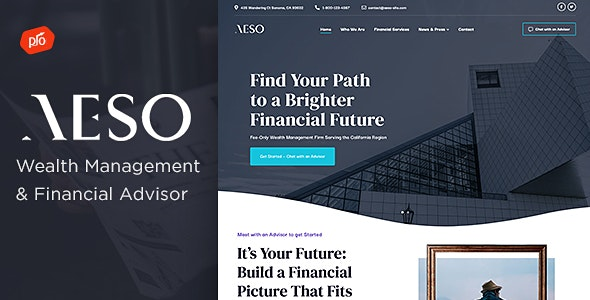 Aeso - Financial Advisor Theme - Business Corporate