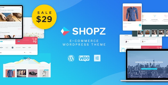 Shopz - eCommerce WordPress Theme - WooCommerce eCommerce