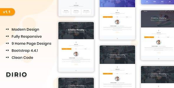 Dirio - Personal Portfolio and Resume Template