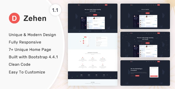 Zehen - Landing Page Template - Landing Pages Marketing