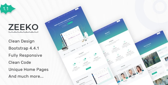 Zeeko - Landing Page Template - Landing Pages Marketing