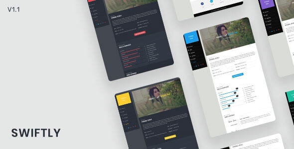 Swiftly - Personal & Portfolio Template - Personal Site Templates