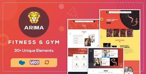 Arima - Fitness WordPress - Health & Beauty Retail
