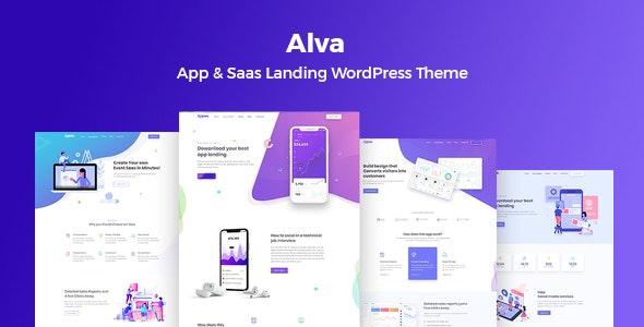 Alva- WordPress Theme For Saas Product - Technology WordPress
