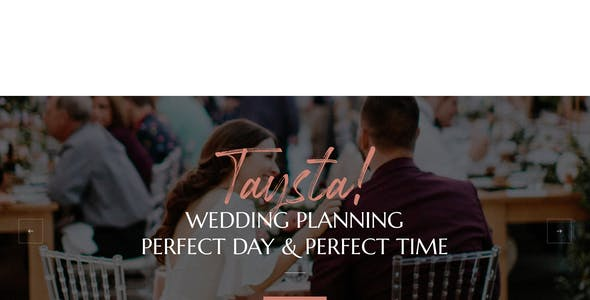 Taysta - Wedding Event Planning WordPress Theme