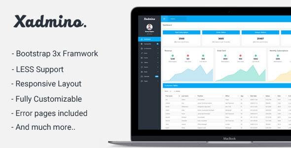 Xadmino - Admin & Dashboard Template - Admin Templates Site Templates