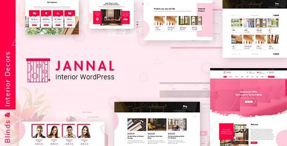 Jannal v2.1 – Windows Curtains & Doors Service WordPress Theme