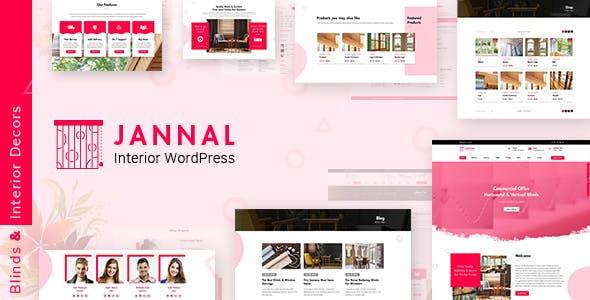 Jannal - Windows Curtains & Doors Service WordPress Theme