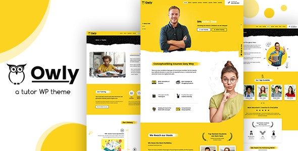 Owly - Tutoring & eLearning WP Theme - Education WordPress