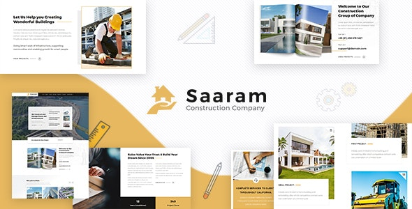 Saaram - Architect WordPress - Business Corporate