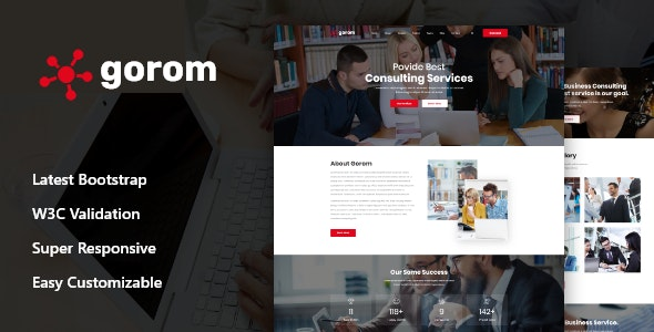 Gorom - Business & Consulting HTML Template - Business Corporate