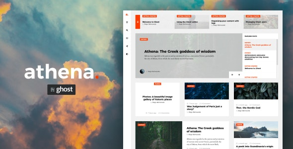 Athena - Modern Ghost Theme with Masonry Layout - Ghost Themes Blogging