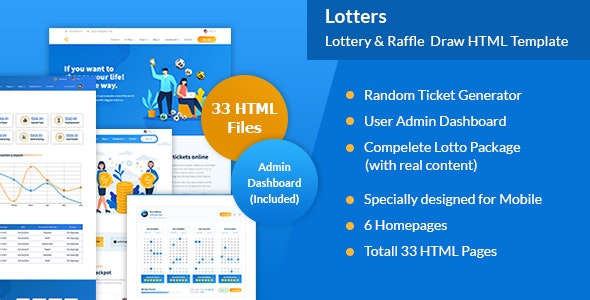 Lotters - Online Lotto & Lottery HTML Template by autworks