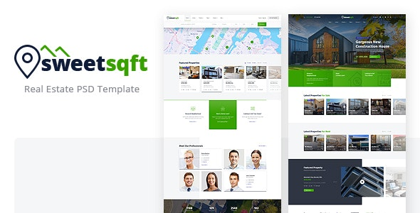 Sweetsqft - Real Estate PSD Template - Business Corporate