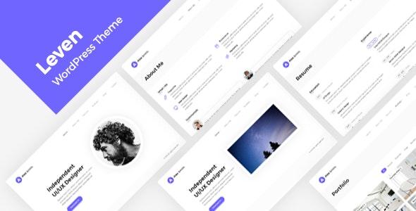 Leven | Resume/CV/vCard Theme - Portfolio Creative