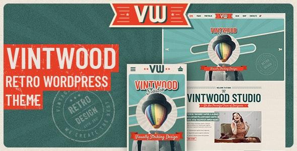VintWood - a Vintage, Retro WordPress Theme - Portfolio Creative
