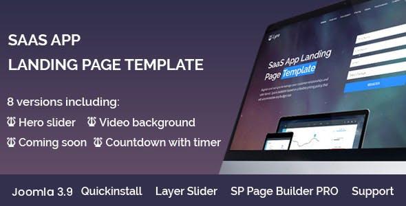 Lyra - SaaS App Landing Page Joomla 4 Template