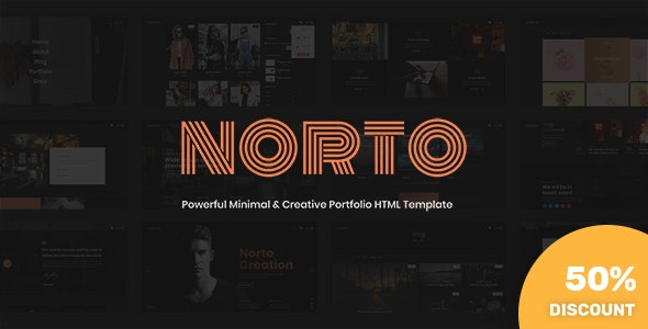 Norto - Minimal & Creative Portfolio HTML Template - Portfolio Creative