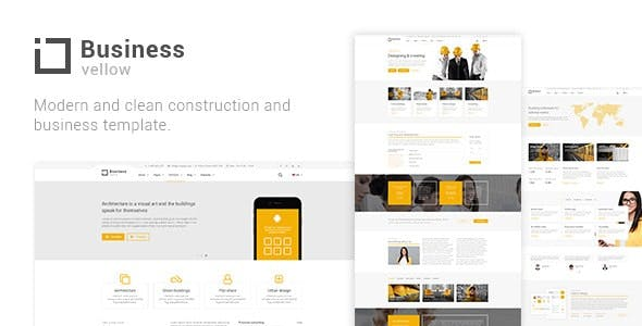 Download Yellow Business - Construction Drupal 8.8 Theme