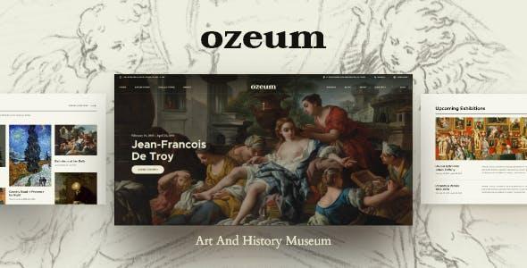 Ozeum   Modern Art Gallery and Creative Online Museum WordPress Theme +RTL