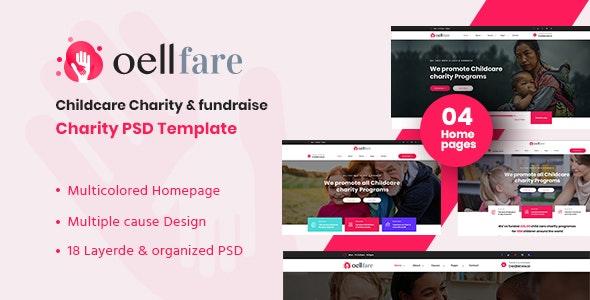 Oellfare - Charity PSD Template - Charity Nonprofit