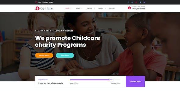 Oellfare - Charity PSD Template