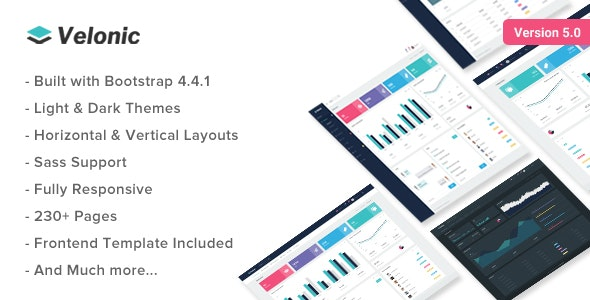 Velonic - Admin Dashboard & Frontend Template - Admin Templates Site Templates