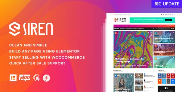 Siren  - News Magazine Elementor WordPress Theme - News / Editorial Blog / Magazine