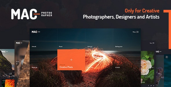 Mac Photography Fullscreen Wordpress Theme By Evathememarket Themeforest