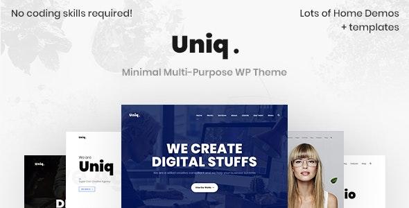 Uniq - Minimal Creative - Portfolio Creative