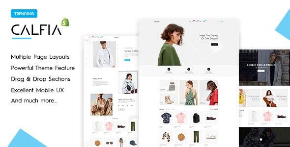 Calfia - Fashion Multipurpose Shopify Theme - Shopify eCommerce