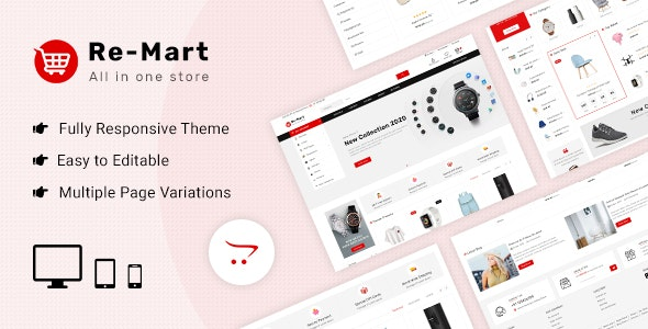 Remart - Multipurpose MarketPlace Opencart 3 Theme - Shopping OpenCart
