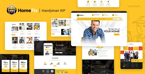 HomeFix - Plumber, Handyman Maintenance Theme - Marketing Corporate