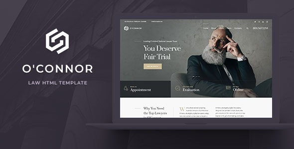 Oconnor - Lawyers and Law Firm HTML Template - Business Corporate