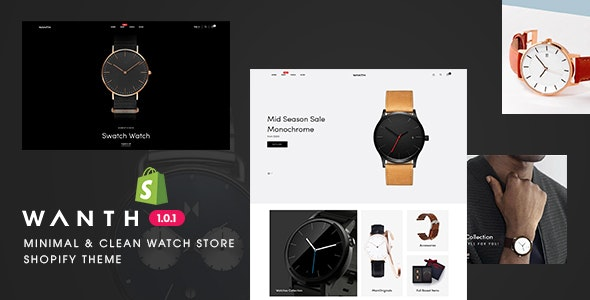 Wanth - Minimal & Clean Watch Store Shopify Theme - Shopify eCommerce