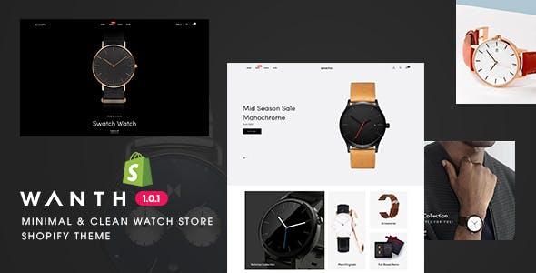 Wanth - Minimal & Clean Watch Store Shopify Theme
