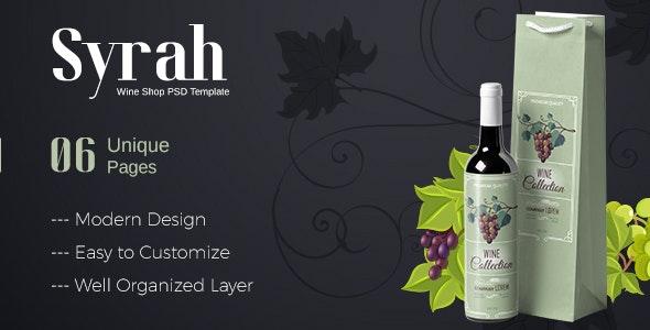 Syrah - Wine Shop PSD Template - Photoshop UI Templates