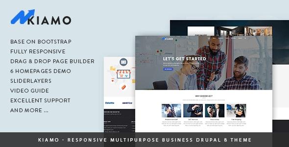 Kiamo - Responsive Business Service Drupal 8.8 Theme - Business Corporate