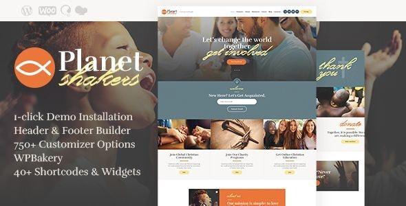 Planet Shakers | Church & Religion WordPress Theme - Churches Nonprofit