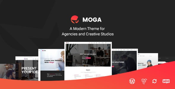 Moga - Creative Agency & Business WordPress Theme - Creative WordPress